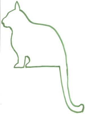 Dessin Chat De Profil chat assis - dessin profil chat