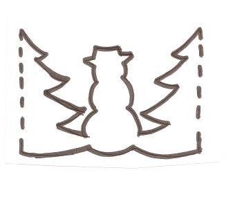 Guirlande bonhomme de neige - Guirlande papier bonhomme ...